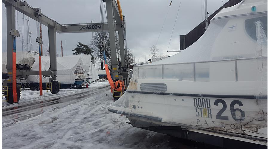 Nord Star 26 ankommet - for videre transport til båtmessen Sjøen for Alle