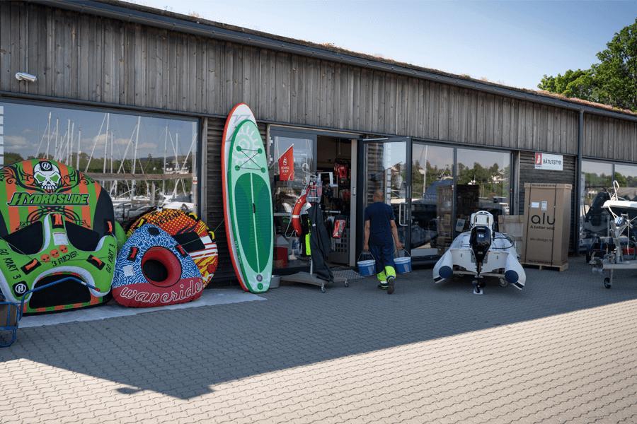 båtutstyrsbutikken ved Oksenøya Marina