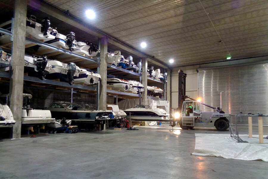 Båthotell for vinterlagring av båt i Oslo - Oksenøya Marina