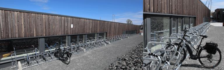 Ny sykkelparkering
